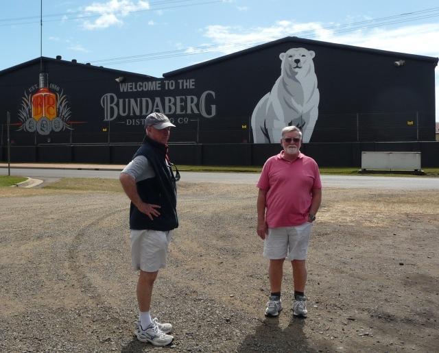 Geard and Bill outside the Bundaberg Distillery